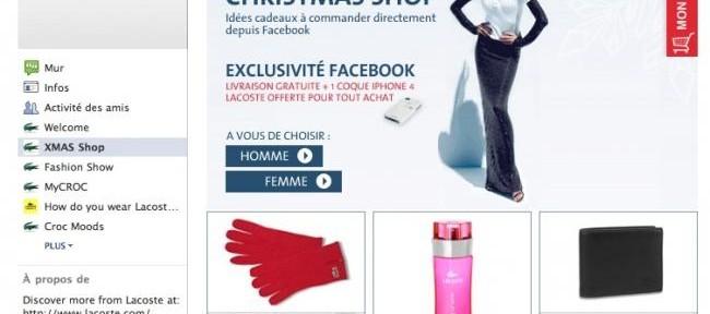 Tienda Lacoste en Facebook