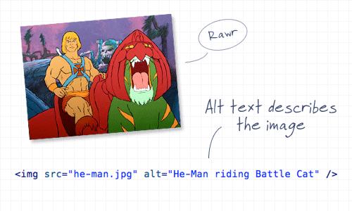 error usabilidad web, tener imágenes sin el atributo alt