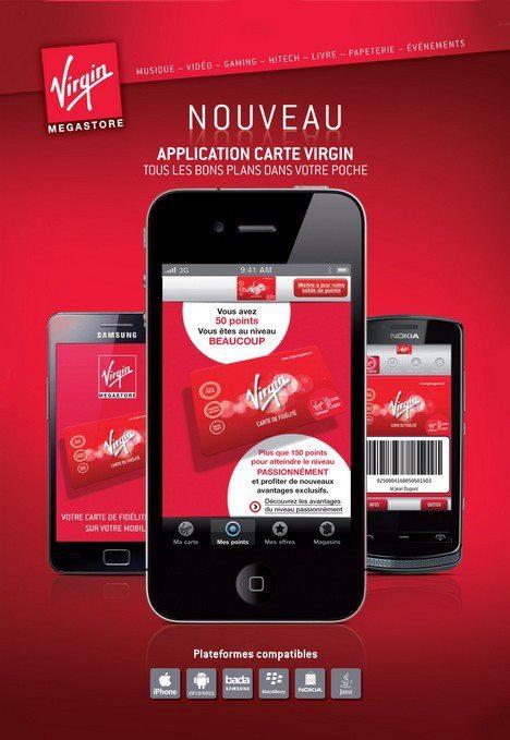 Virgin sustituye la tarjeta de fidelidad por una mobile app