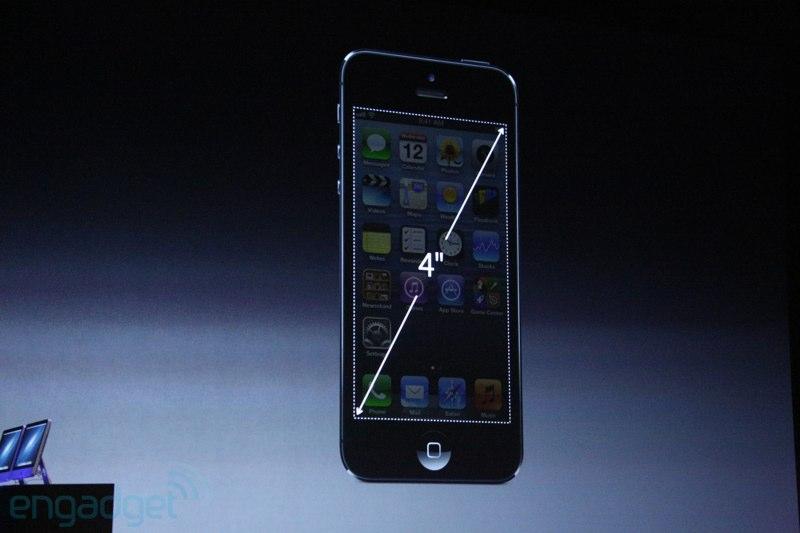 iPhone 5, pantalla de 4 pulgadas