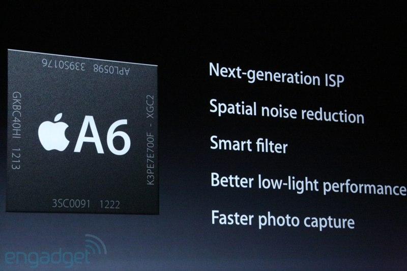 iPhone5, procesador A6, dos veces más rápido