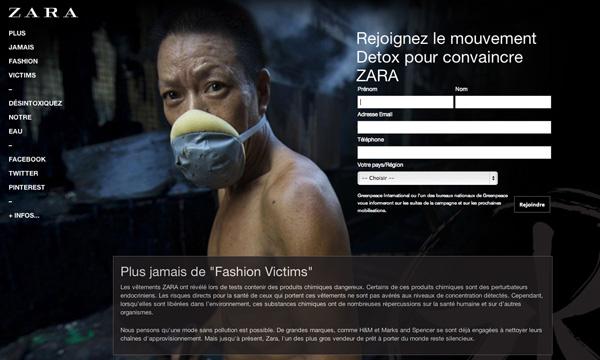 Campaña online detox Greenpeace 2