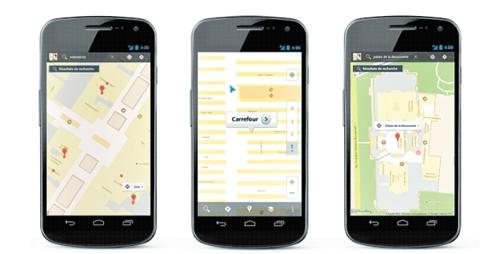 Geolocalización, Google y Carrefour