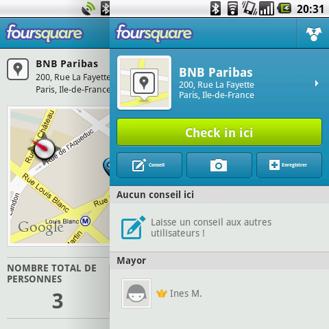 BNP Paribas foursquare