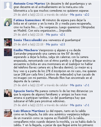 Mi media maratón Rock 'n' Roll Madrid, MAPOMA'13, opiniones facebook