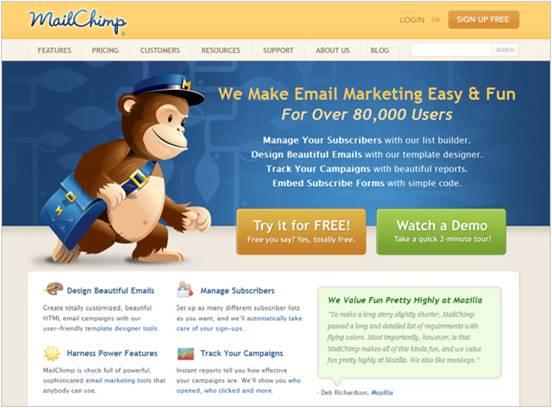 ecommerce, una homepage clara y sencilla