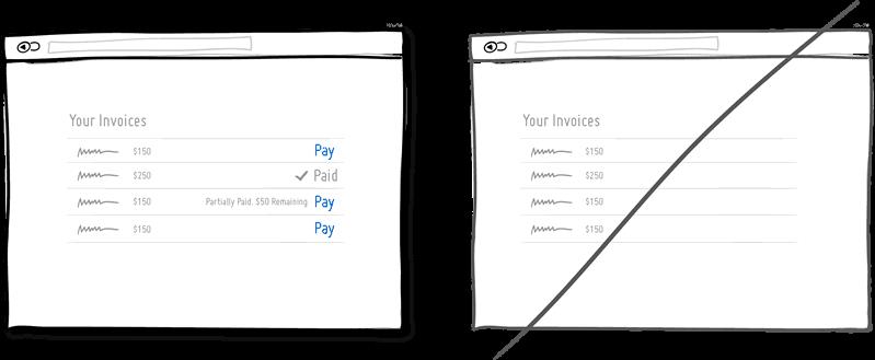 Mostrar en el estado de un elemento en lugar de tener que hacer click para obtener más información