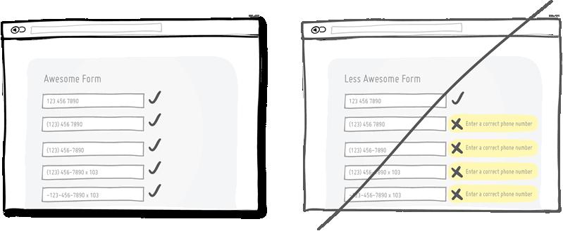 Indicar en el momento los errores que se van cometiendo en un formulario