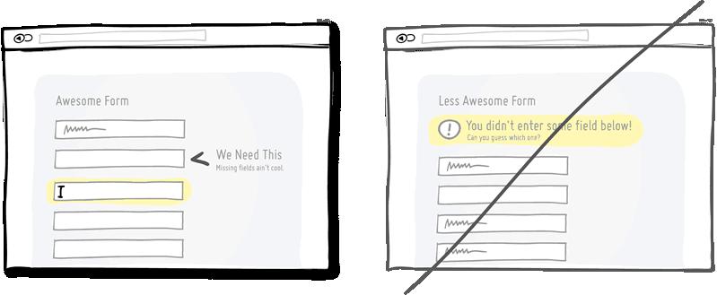 Indicar al momento los errores que se van cometiendo en un formulario