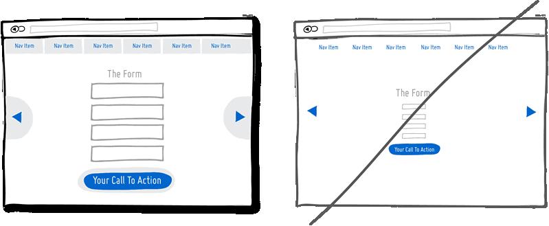 Aumentar el tamaño de los botones de call to action y de los campos de los formularios