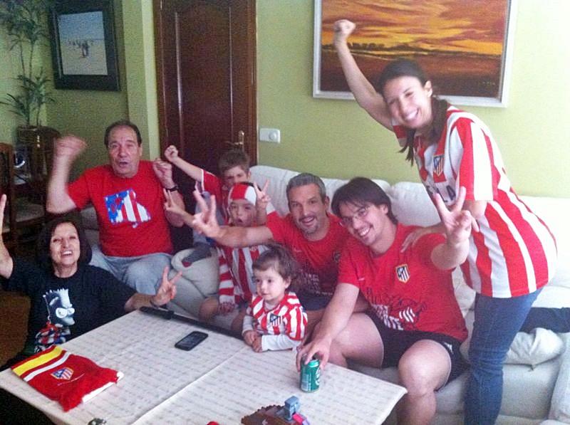 Mi familia política, atléticos hasta la médula