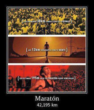 Los sentimientos durante una maraton