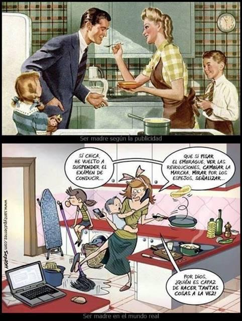 Ser madre publicidad vs realidad