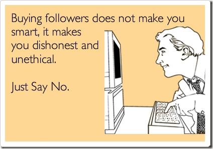 5 razones para no comprar followers