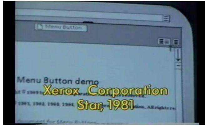 Start Xerox 1981 primer menu hamburguesa
