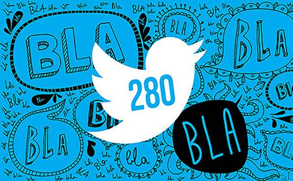 Twitter pasa de 140 caracteres a 280